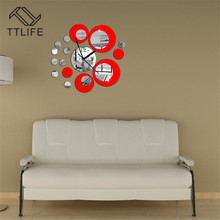 TTLIFE Modern Background Mirror Environmental Protection Wall Decoration Wallpaper Sticker Creative Romantic DIY Room Decor 2019