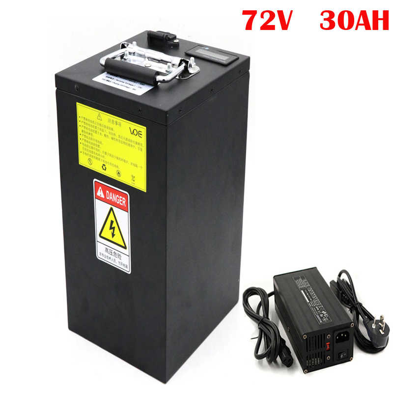 No taxes  72V 30Ah Electric Citycoco Battery Lithium ion Battery 72V 2800W Electric Scooter Akku with Charger