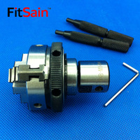FitSain Three jaw chuck 50mm/63mm CNC mini SELF CENTERING maiually operated chuck Bench Lathe Used for motor shaft 8/10/12/14mm