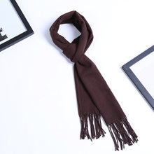 TJ-TianJun Solid Color Men Autumn Winter Scarf Cotton Adult Fashion Long Tassel Narrow Edition Scarf New2020 Hot Sell Outdoor(China)