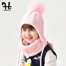 FURTALK czapka dla dzieci i zestaw szalików dla dziewczynek i chłopców polarowe dzianiny czapki zimowe czapki z pomponem dla dzieci ciepłe czapki czapka dla 2 6 lat