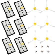 Para IRobot Roomba 800 serie 900 kit de reemplazo de 895, 886, 871, 875, 865, 866, 960, 966 Cepillo Lateral filtros