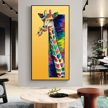 Modern Style Apply To Kids Room Decoration Lovely Animal Sika Deer Posters and Prints Wall Art Living Room Decor Canvas Painting