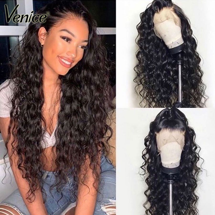 Venice Hair Glueless Full Lace Human Hair Wigs Pre Plucked With Baby Hair Brazilian Remy Hair Curly Lace Wig For Black Women