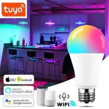 Умсветильник лампа e27 b22 с wi fi 15 Вт светодиодная rgb работает