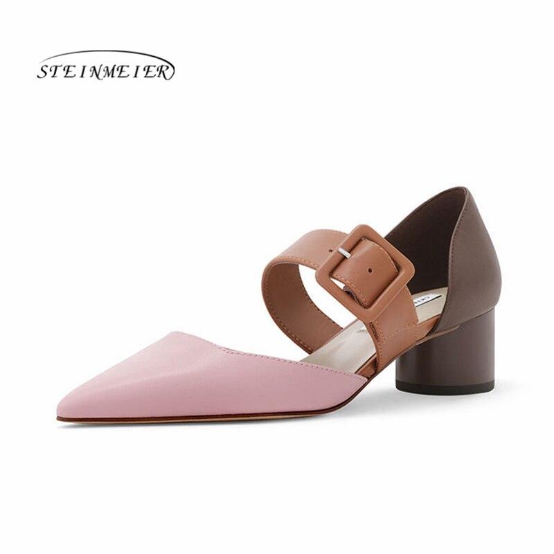 Zapatos de tacón alto de cuero de moda para mujer, zapatos de tacón grueso de primavera, zapatos de tacón con hebilla, zapatos de tacón para mujer, sandalias de verano 2020 ¡Novedad de 2019! relojes SUNKTA para mujer, relojes de lujo impermeables para mujer, relojes de vestir de acero inoxidable a la moda para mujer, reloj femenino