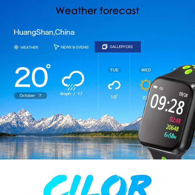 F9 s PK iwo8 b57 Touch Screen smart watches to Monitor Heart rate and Blood pressure Supported for IOS Android for men women 21