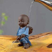 Arcilla púrpura creativa para decoración del hogar, adorno para mascotas estatuillas de Buda, pequeño monje Yixing, pulverizador para bebés, mesa de té, manualidades