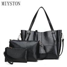 цены 2020 new handbags 3pcs/set PU leather Big Capacity Female casual tote shoulder bag purse Fashion Tote Messenger crossbody bag