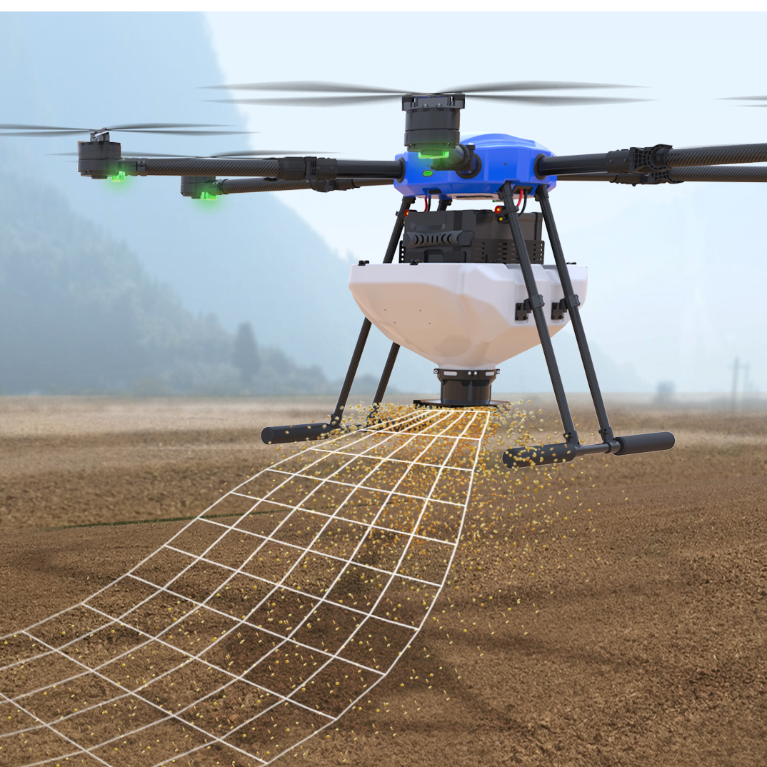 EFT 22L 22KG particle spreader seed fertilizer fish bait particle spread for agricultural spray drone spread system