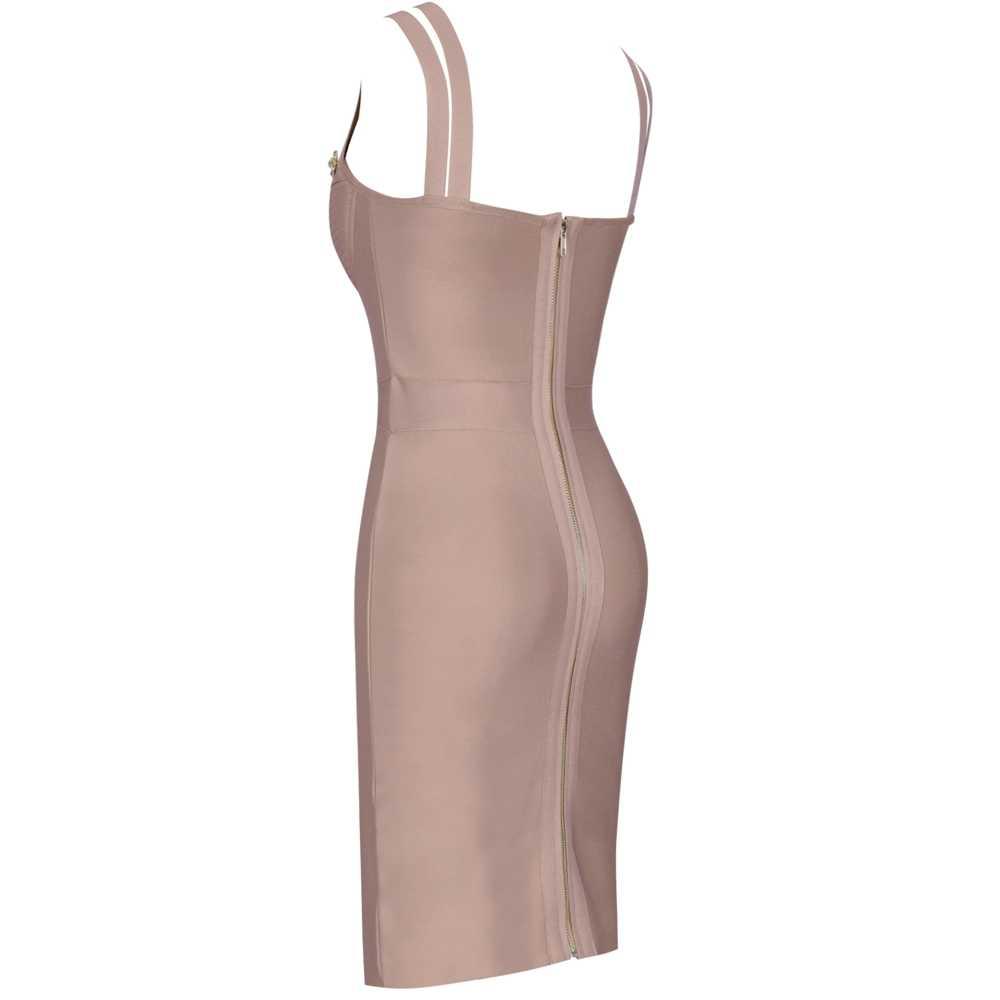 사슴 레이디 붕대 드레스 2019 새로운 도착 레드 스파게티 스트랩 드레스 Bodycon Vestidos 겨울 붕대 파티 드레스 여성 저녁