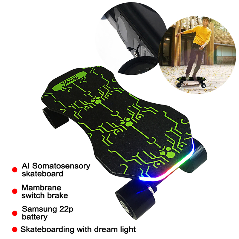 Two Mode Control Body And Remoter AI Somatosensory Electrical Skateboard 4S1P Samsung 22p Battery Auto-shutdown Delivery By DHL