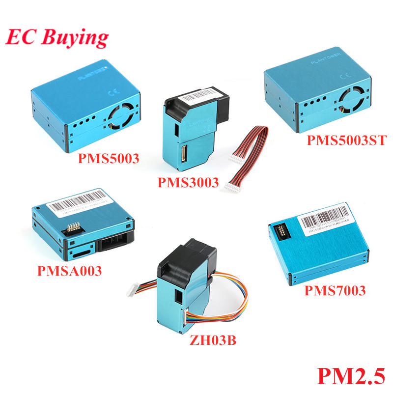 PMS5003 PMS7003 PMS5003ST PMS3003 PMSA003 ZH03B Módulo Sensor PM2.5 Partículas de Poeira Do Ar Sensor laser PLANTOWER Eletrônico DIY