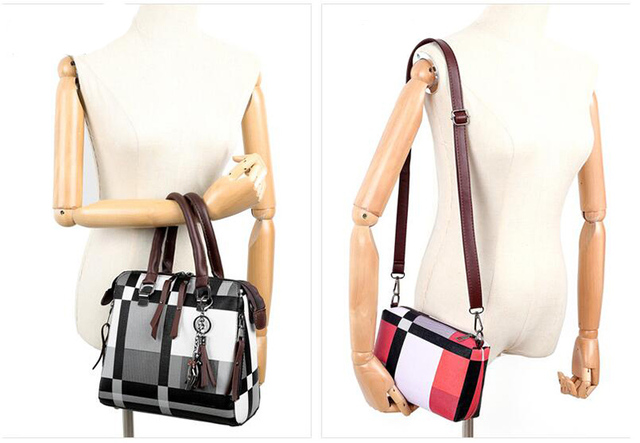 New 4pcs/Set Women Bags High Quality  Leather Shoulder Messenger Bags Tote Bag 6