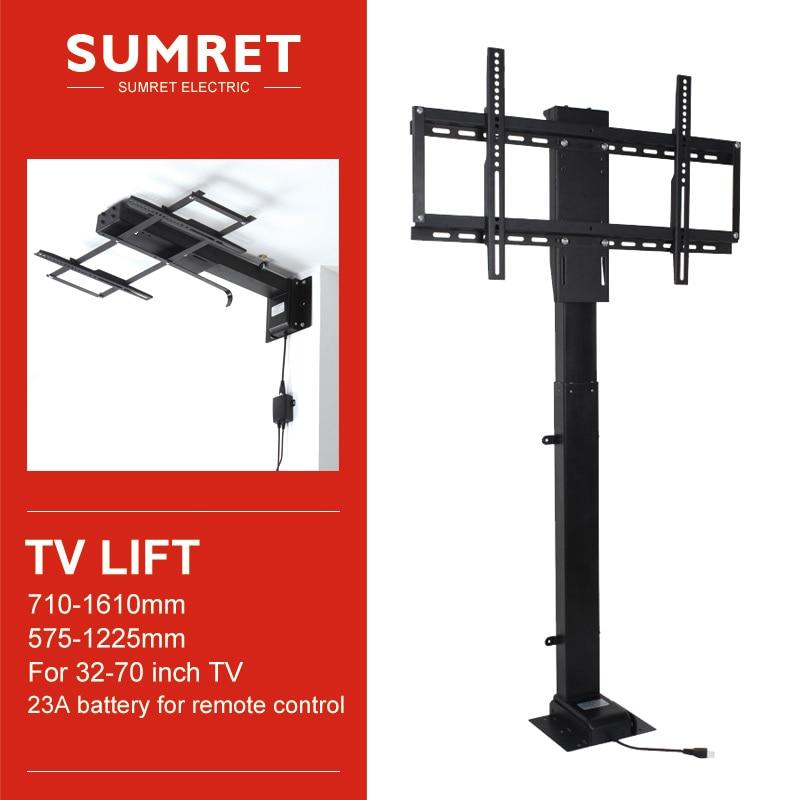 suporte eletrico de levantamento para tv suporte vertical motorizado ajustavel de altura com controle de telefone