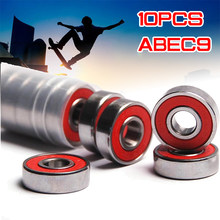 10x ABEC-9 608 2RS Anti-Roest Skateboard Wiellager Inline Roller Skate Wiellager Rode Verzegelde 8X22X7 Mm As(China)