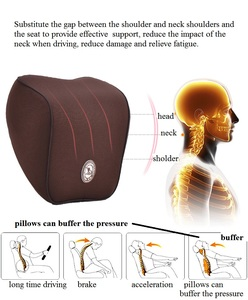Image 3 - 首枕車の座席のヘッドレスト枕シートサポート腰椎クッション整形外科デザイン旅行枕低反発緩和痛み