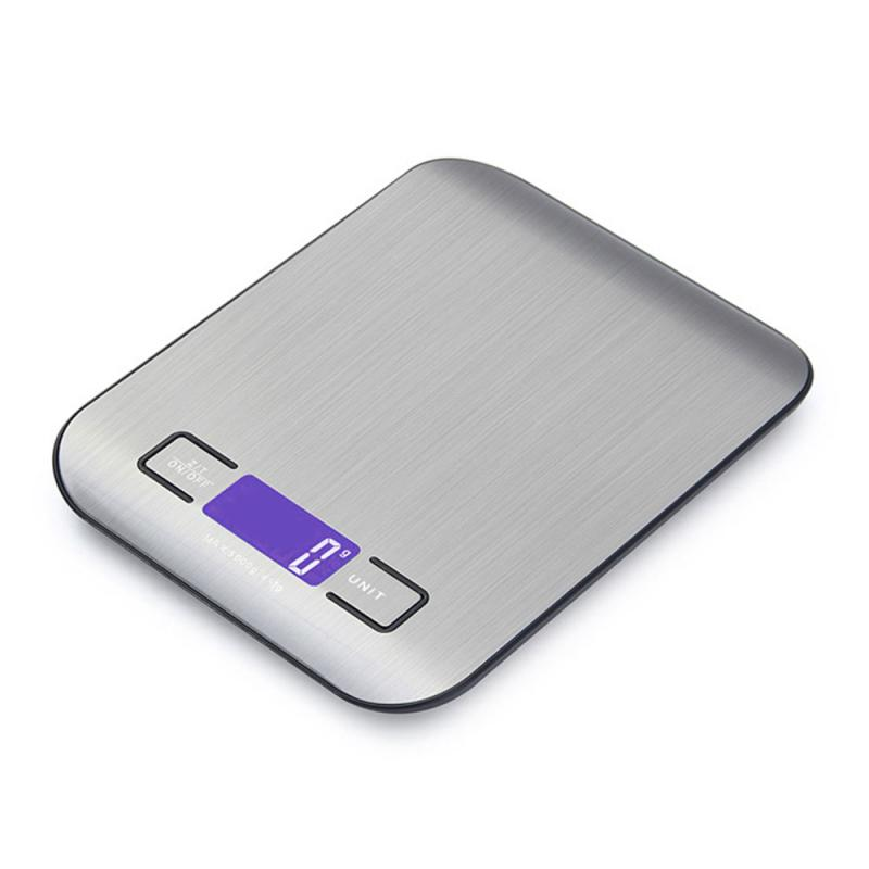 5kg/1g Household Digital Kitchen Scale Electronic Food Scales Diet Scales Measuring Tool Slim LCD Digital Weighing Scale