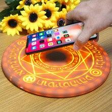 Magic optical array Qi Wireless Phone Charger 10W Circle quick Charging Pad For iPhone 8 X XS XR Plus Huawei P30 S9 Xiaomi MIX 9