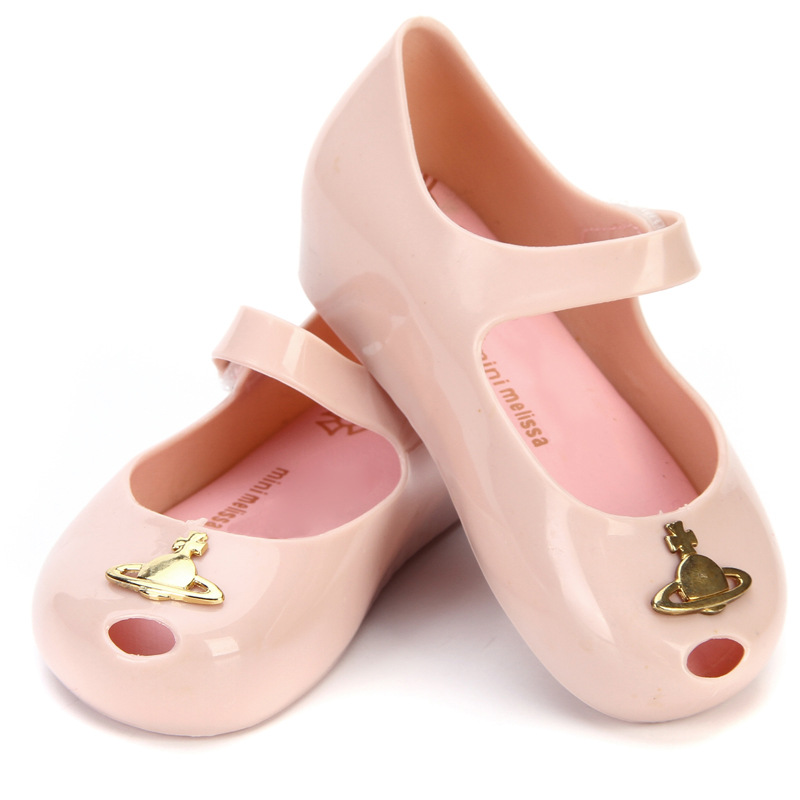 Girls Fashion Summber Sandals Neptune Mini Melissa Sandals Spring And Autumn Girl Fish Mouth Jelly Shoes MN005