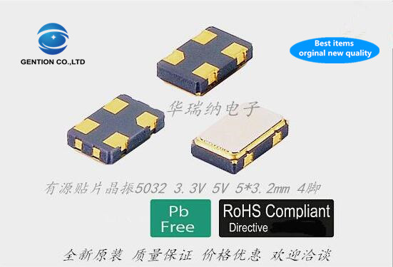 5pcs 100% New And Orginal 3.3V 5032 Active SMD Crystal ABRACON ASFL1 80.0000MHZ 80M 80MHZ