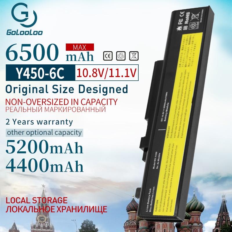 Golooloo 6 Cells Laptop Battery For Lenovo IdeaPad Y450 Y450A Y450G Y550 Y550A Y550P 55Y2054 L08L6D13 L08O6D13 L08S6D13