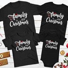 Matching T-Shirt Aesthetic Family Christmas Xmas Mom Kids Baby Santa Dad 1pcs Romper