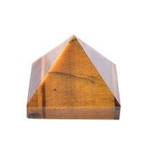 Doğal kaplan gözü piramit taş Reiki çakra kristal noktası şifa taşı el yapımı cilalı süsler cevheri Mineral kulesi