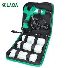 LAOA 100W Hot Melt Glue Gun Bag Set with 11mm Glue Sticks Industrial Thermo Electric Heat Temperature Repair Tool DIY
