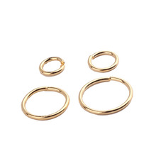 6pcs jewelry findings copper plated genuine gold color retaining single connection open ring diy accessories making