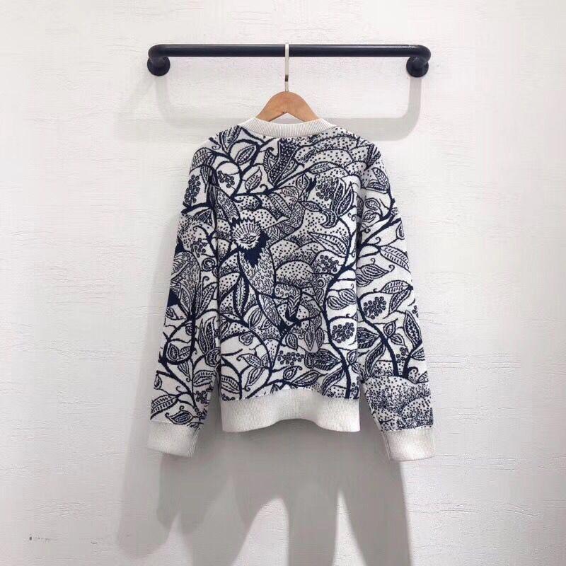 LINGHAN primavera sketch modello delicato ricamo fascia cachemire mescolato maglione di alta qualità casuale a maniche lunghe maglione - 2