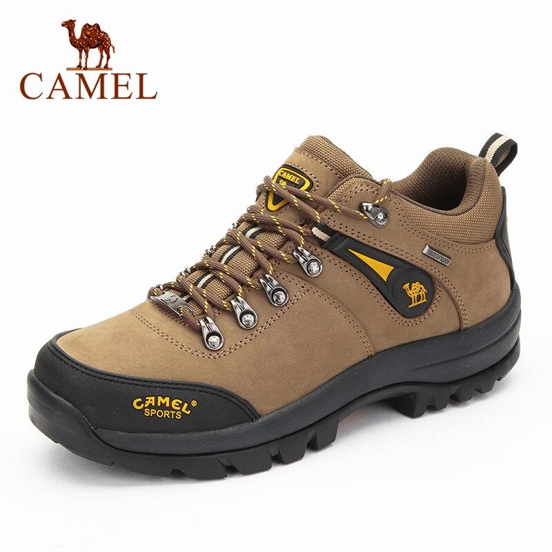 Deve yeni yüksek kalite erkekler açık yürüyüş ayakkabıları deri Anti-skid nefes tırmanma Trekking yürüyüş Sneakers
