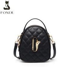 FOXER borsa di cuoio delle donne 2020 di nuovo modo Coreano piccolo ck rombo borsa Mini cross body bag