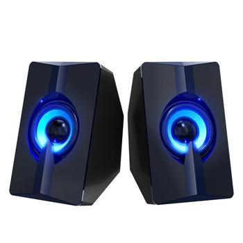 Portable Mini S5 Computer Speaker USB Interface Colorful Luminious Speaker Suitable For Mobile Phone Laptop Desktop Computer image