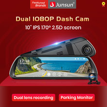 "Junsun 9.66"" IPS Touch Screen Dual Lens 1080P Car DVR Stream RearView Mirror Dash Camera Dual Lens Night Vision Parking Monitor(China)"