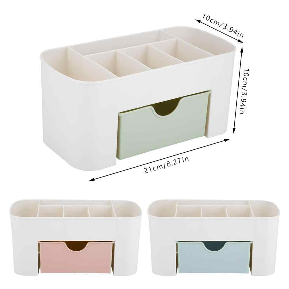 TOPINCN Plastic Makeup Organizer Jewelry Necklace Nail Earring Cosmetics Storage Container Drawer Home Desktop Storage Box