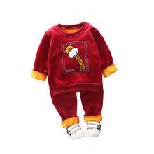 Новая осенне зимняя одежда для маленьких девочек; Детская спортивная