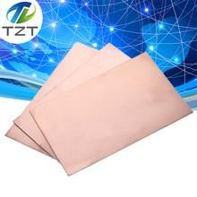 TZT-placa revestida de cobre de un solo lado, Pcb Fr4, bricolaje, Kit de placa de circuito laminado, 10x15cm