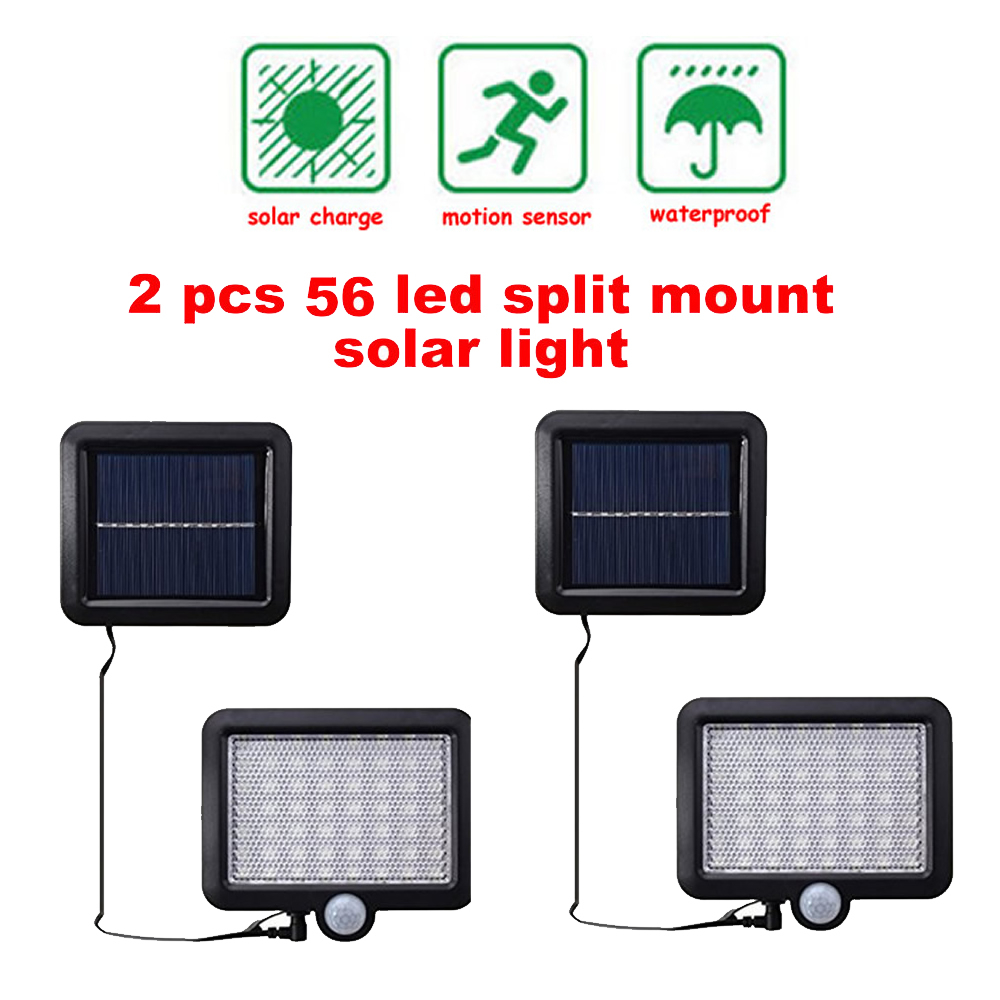 2/4pcs Outdoor Garden Fence Light Solar Power LED Solar Wall Lamp Night Light-Sensitive Security Gate Porch Path Patio Fence Lig