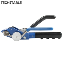 Stainless Steel Zip Cable Tie Gun plier bundle tool for width 4.6-19mm thickness 0-0.8mm Trigger action with Cutter