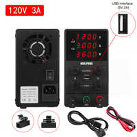120V 3A Adjustable DC Lab Power Supply Switching Regulator Laboratory Power Supply Bench Source USB 4 Digital