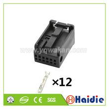 2 conjuntos 12pin cablagens plásticas elétricas fêmea 1355524-3 conector do alojamento com termianls 1-1355524-3