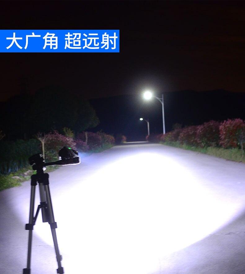 Usb recarregável lanterna de longo alcance ao