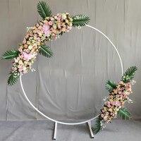 circle Wedding Arch Background Wrought Iron Shelf Decorative Props DIY Round Party Background Shelf Flower with Framer