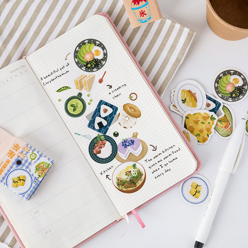 Mohamm Meeting Delicious Series Kawaii Cute Sticker Custom Stickers Diary Stationery 46 Pcs