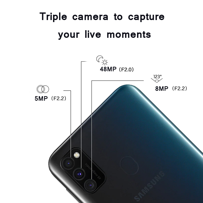"Image 2 - Samsung Galaxy M30s Mobile phone 6GB 128GB 6.4"" sAMOLED Display 6000 mAh Battery 48MP Triple Camera SmartphoneCellphones   -"