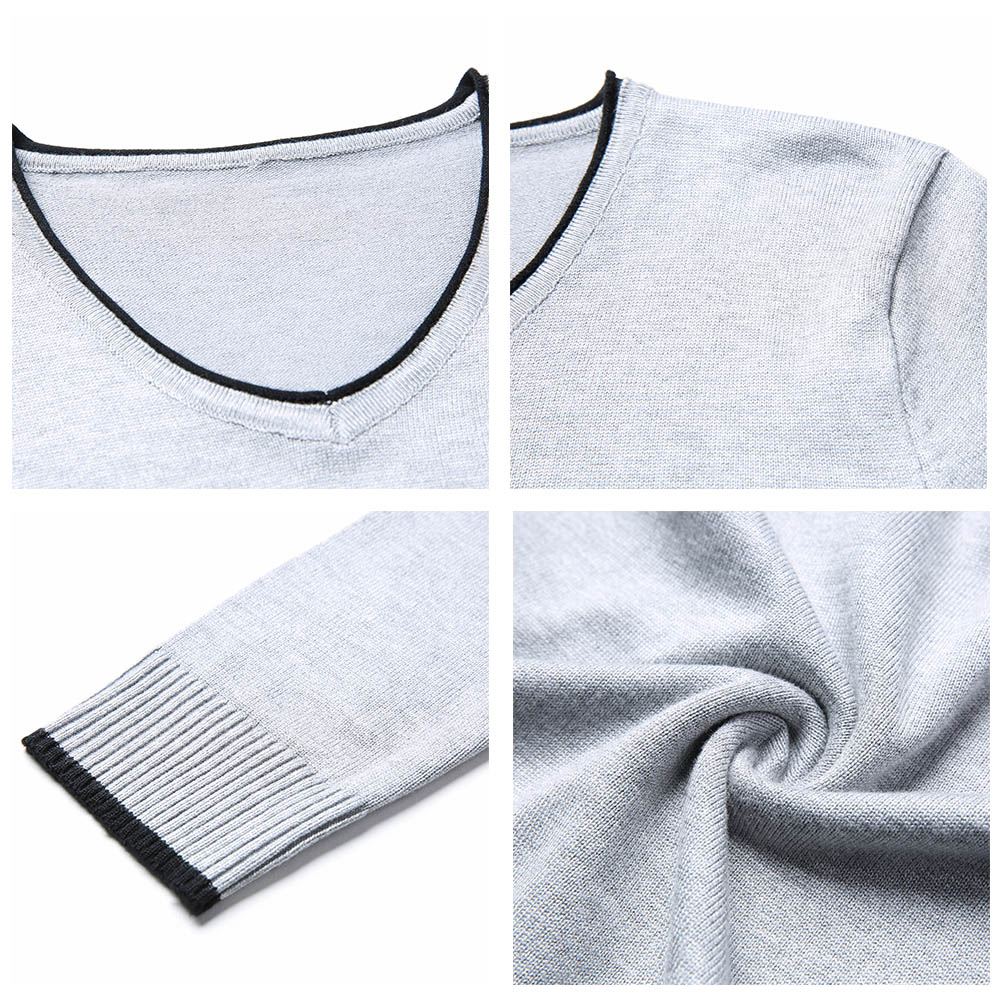 COODRONY Brand Spring Autumn New Arrival Soft Cotton Sweater Casual V-Neck Pull Homme Knitwear Pullover Men Clothes Jersey C1001 5