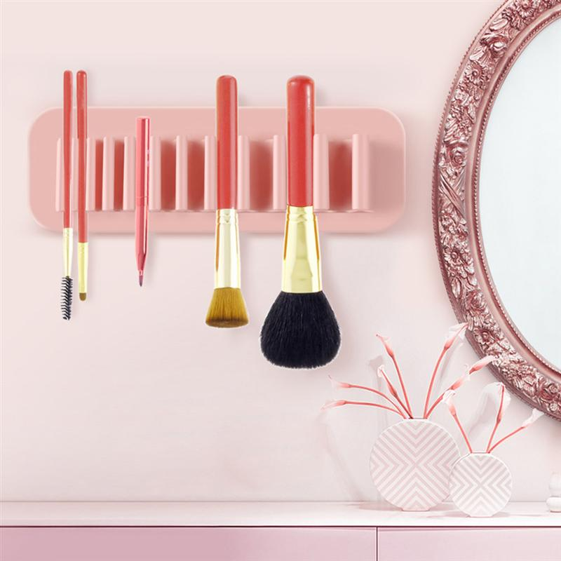Toothbrush Storage Holder Environmental Protection Silicone Makeup Brush Drying Rack for Home Organization image