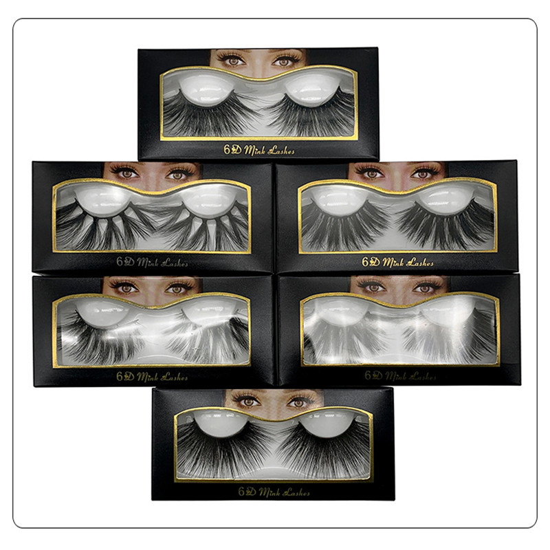 1 Pairs 6D Mink Eyelashes Natural Volume Lashes False Makeup Extension Cruel-free