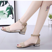 Shoes Women leather ladies buckle sandals rubber beach
